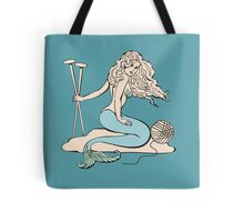 Tattoo mermaid yarn knitting needles Tote Bag