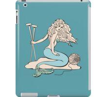 Tattoo mermaid yarn knitting needles iPad Case/Skin