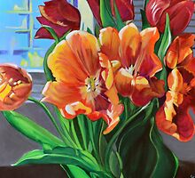 Tulips in the Window by Lori Elaine Campbell