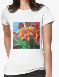Tulips in the Window Womens Fitted T-Shirt