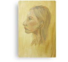Woman - profile Canvas Print