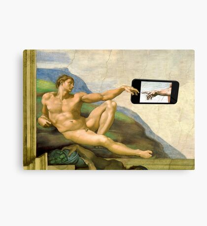 The Creation Of Adam 2.0 Canvas Print