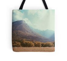 Mountains in the background V Tote Bag