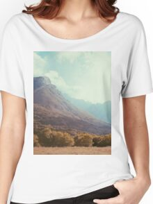 Mountains in the background V Women's Relaxed Fit T-Shirt