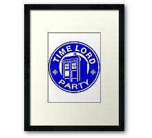 time lord party Framed Print