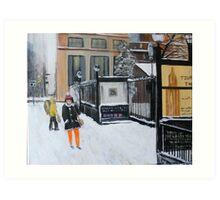 Near Chambers Street, NY City Winter Art Print