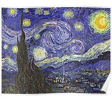 Vincent van Gogh, Starry Night.  Poster
