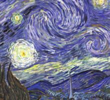 Vincent van Gogh, Starry Night.  Sticker