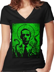 H. P. Lovecraft Women's Fitted V-Neck T-Shirt