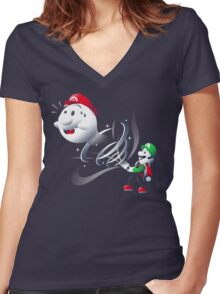 Boo Bro Women's Fitted V-Neck T-Shirt