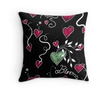 Love Blooms Throw Pillow