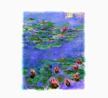 1914-1919 Water lilies, Red, oil on canvas. Claude Monet Unisex T-Shirt