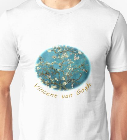 Vincent van Gogh, Blossoming Almond Tree Unisex T-Shirt