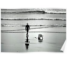 The surfer and the dog Poster