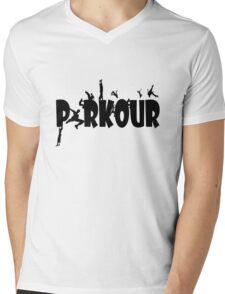 Parkour geek funny nerd Mens V-Neck T-Shirt