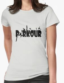 Parkour geek funny nerd Womens Fitted T-Shirt