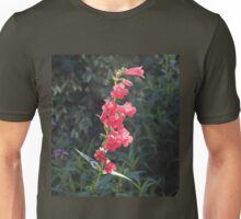 Sunlit Pink Penstemon Flower Unisex T-Shirt