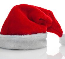 Traditional red santa claus hat by homydesign