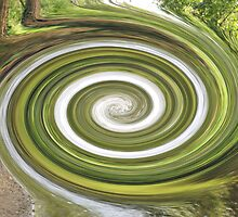 Vortex - River Frays Abstract by Chris Day