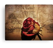 Poetry Canvas Print
