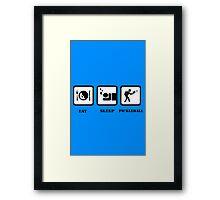 Pickleball geek funny nerd Framed Print