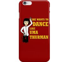 Uma Thurman iPhone Case/Skin