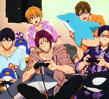 Free! pajama party by airesama