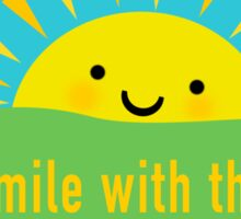 Smile With the Sun Sticker