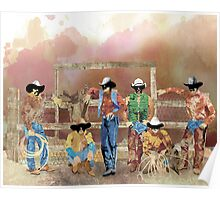 Stormy Cowboys Poster
