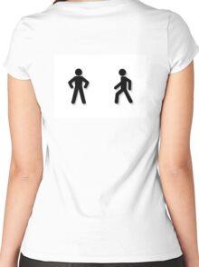 pedestrian traffic Women's Fitted Scoop T-Shirt