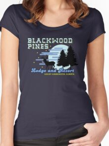 Until Dawn - Blackwood Pines Lodge Women's Fitted Scoop T-Shirt