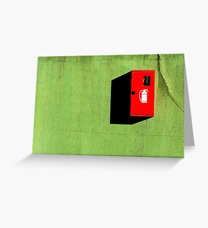 Red :: Green :: Black Shadow Greeting Card