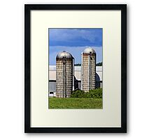 Farm Silos Framed Print
