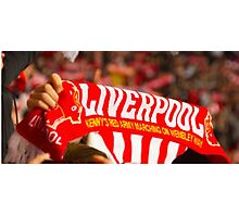 liverpool fans flag Photographic Print