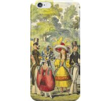 1800's Kensington Gardens scene  iPhone Case/Skin