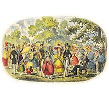 1800's Kensington Gardens scene  Photographic Print