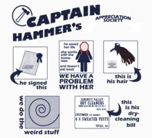 Captain Hammer's Appreciation Society Kids Clothes
