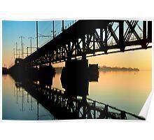 Sunrise on the Chesapeake Bay trestle  Poster