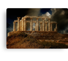 Echo Down The Years - Temple of Poseidon Canvas Print