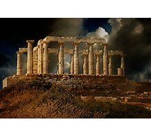 Echo Down The Years - Temple of Poseidon Photographic Print