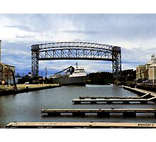 Freighter in the Flats Photographic Print