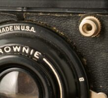 Classic Vintage Kodak Brownie Camera Tee Sticker