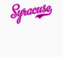 Syracuse Pink Womens Fitted T-Shirt