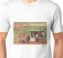 Street vendors selling tomatoes near Mombasa, Kenya Unisex T-Shirt