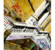 Graffitied Church, Naples  Photographic Print