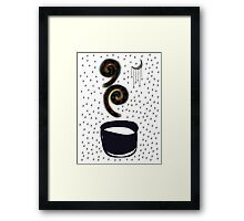 A cup of Galaxies Framed Print
