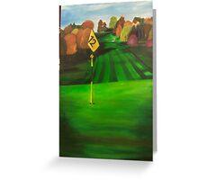 12th hole Greeting Card