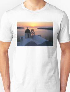 Golden Santorini Unisex T-Shirt
