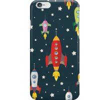 cartoon spaceships launch iPhone Case/Skin