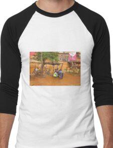 Street workshop near Mombasa, KENYA Men's Baseball ¾ T-Shirt